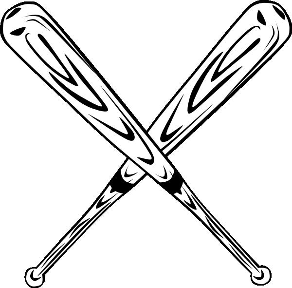 crossed bats clip art at clker com vector clip art Crossed Baseball Bats Vector Crossed Baseball Bats Vector
