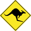 Warning Kangaroos Ahead Clip Art