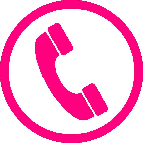 Pink Phone Icon Clip Art at Clker.com - vector clip art
