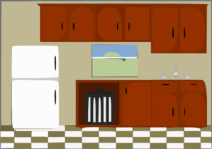 Kitchen clip art at vector clip art online for Kitchen set png
