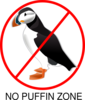 No Puffin Zone Clip Art