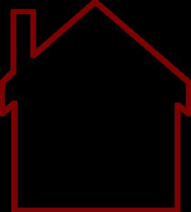 Brown House Outline Clip Art at Clker.com - vector clip ... (270 x 299 Pixel)