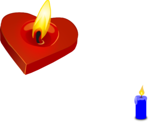 Burning Heart Candle Clip Art