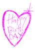 Happy Birthday Heart Clip Art