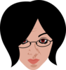 Woman Wearing Glasses Clip Art