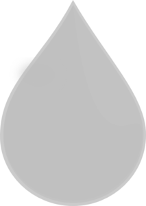 Grey Water Drop Clip Art