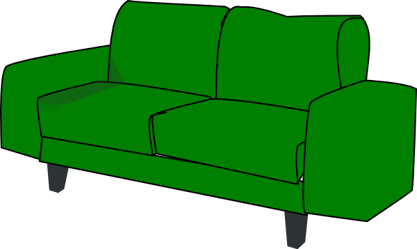 Green Sofa Couch Clip Art at Clker.com - vector clip art online, royalty free & public domain