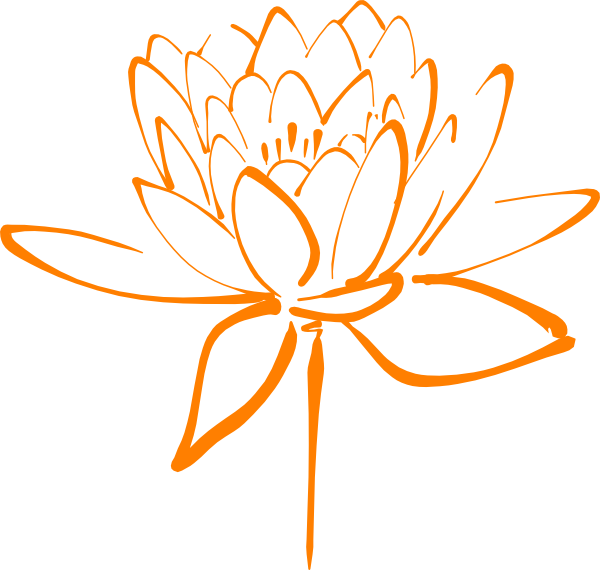 Orange Flower Clip Art at Clker.com - vector clip art ...