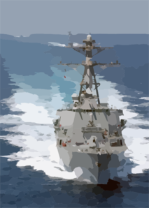 The Guided Missile Destroyer Uss Donald Cook (ddg 75) Leads A Five-ship Armada Conducting Underway Operations In Support Of Operation Iraqi Freedom. Clip Art