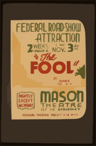 Federal Road-show Attraction  The Fool  By Channing Pollock Clip Art
