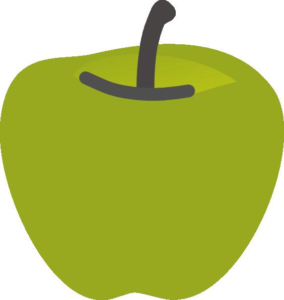 Green Apple 2 Clip Art at Clker.com - vector clip art ... Green Apple Outline Clip Art