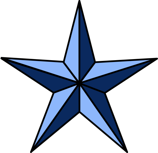 Nautical star borders