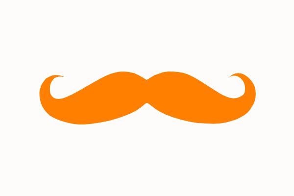 Orange Mustache Clip Art at Clker vector clip art