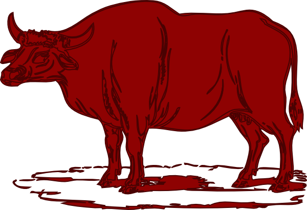 Red Brown Cow Clip Art At Clker Com