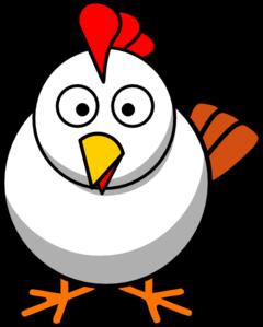 White Chicken Clip Art At Clker Com Vector Clip Art