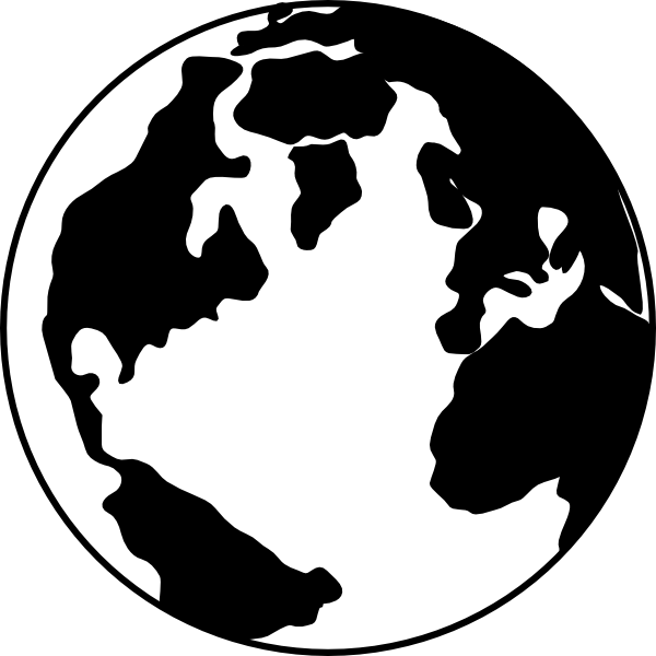 bw globe clip art at clker - vector clip art online, royalty