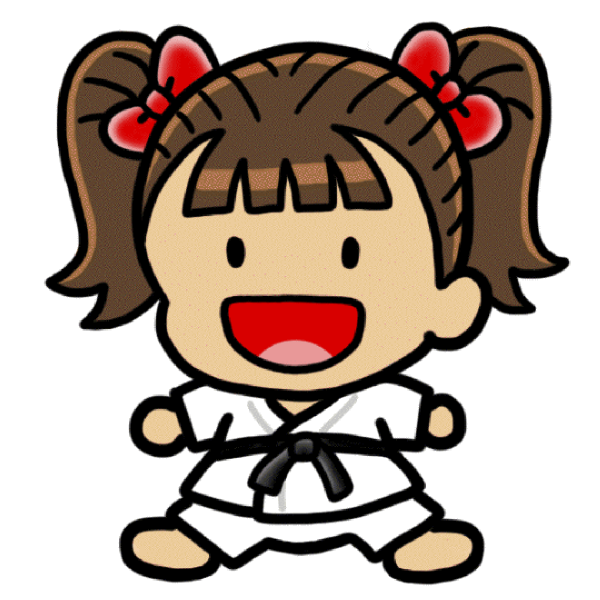 girl karate character clip art at clkercom vector clip