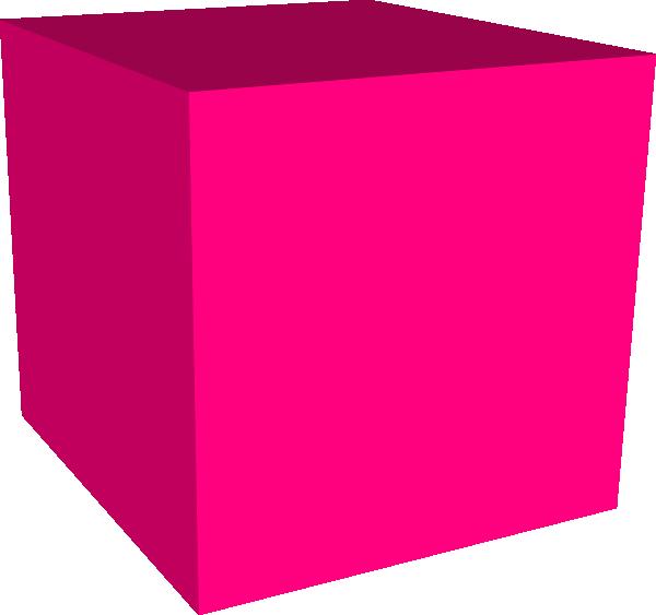 Pink Cube Clip Art At Clkercom Vector Clip Art Online