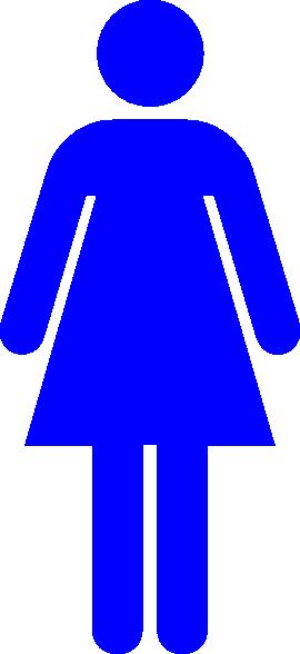 women toilet symbol blue clip art at clker com
