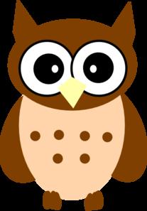 little brown owl clip art at clkercom vector clip art