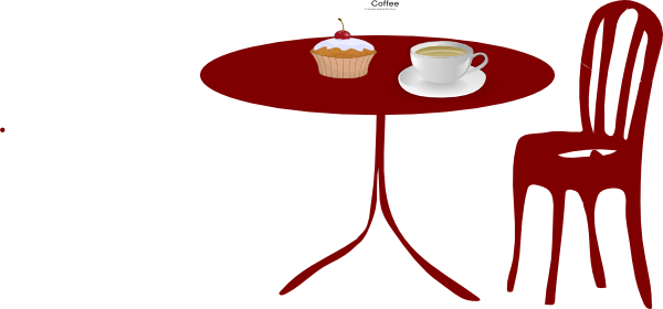 Table chair cupcake coffee clip art at clker vector