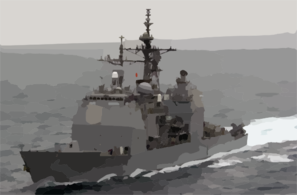 He Guided Missile Cruiser Uss Princeton (cg 59) Passes By In Preparation For A Connected Replenishment (conrep) With The Fast Combat Support Ship Uss Bridge (aoe 10) And Uss Nimitz (cvn 68) Clip Art