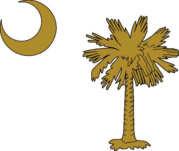 Sc Palmetto Tree Gold Clip Art At Clker.com
