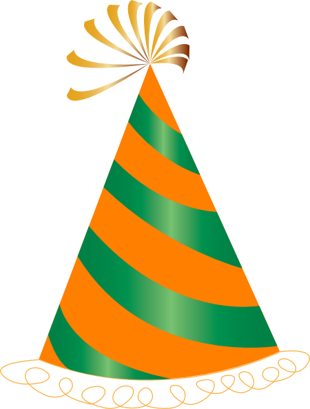 Orange And Green Party Hat Clip Art At Clker Com Vector
