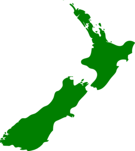 New Zealand Map Image Clip Art