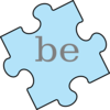 Puzzle Piece Word Be Clip Art