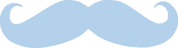 Blue Mustache Clip Art at Clker.com - vector clip art ...