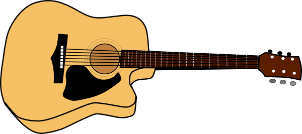 acoustic guitar picture clip art at clker com vector clip art online  royalty free   public domain guitar vector art for cnc guitar vector photoshop
