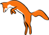 Fox Leaping Clip Art