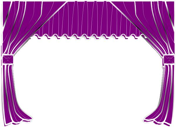 Purple Curtains Clip Art At Clker Com Vector Clip Art