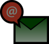 Green Email Envelop Clip Art