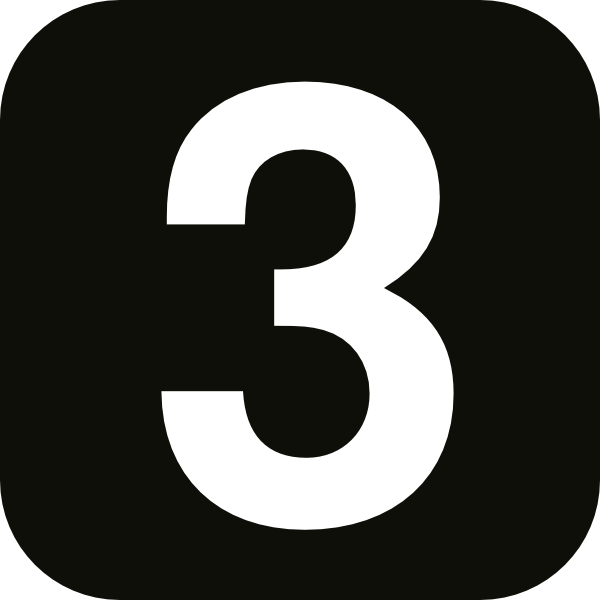 Number 3 Simple Square Black Clip Art at Clker.com ...