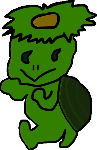 Hi 5 Cartoon Characters : Green cartoon character clip art at clker vector