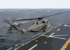 A Ch-53e Super Stallion Launches From The Flight Deck Of The Amphibious Assault Ship Uss Saipan (lha-2) During Flight Deck Certification. Clip Art