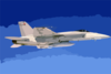 F/a-18e Super Hornet With Sharp Pod Attached. Clip Art