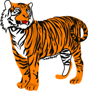 tiger clip art at clker com vector clip art online Tiger Eyes Clip Art Tiger Face Clip Art Black and White