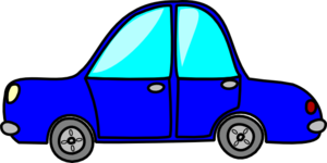 Cartoon Blue Car Clip Art