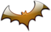 Orange Gradient Bat Clip Art