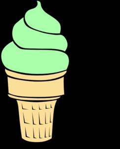 Ice Cream Cone Scoop Clip Art