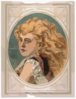 [bust View Of Woman With Long, Blond, Free-flowing Hair, Wearing Lace] Clip Art