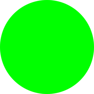 Clipart Neon Green Dot on House Dot To