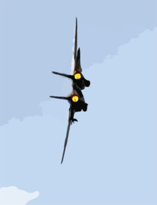 Tomcat Makes A High-speed Turn In Full Afterburner Clip Art