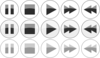 Glossy Media Player Buttons Clip Art