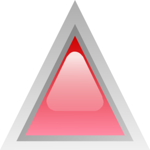 Led Triangular Red Clip Art