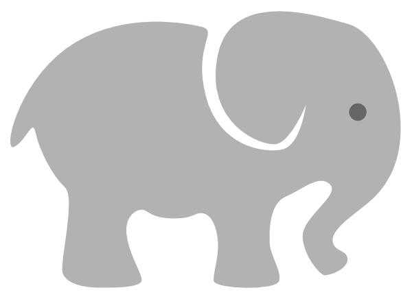 Light Grey Baby Elephant Clip Art At Clker Com Vector