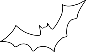 Outline Bat Clip Art